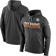 Herren Miami Delphine Nike Anthrazit Seitenlinie Schaltung Pullover Leistung Hoodie