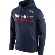 Männer New England Patriots Nike Marine Seitenlinie Schaltung Pullover Leistung Hoodie