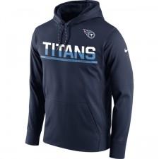 Herren Tennessee Titans Nike Marine Seitenlinie Schaltung Pullover Leistung Hoodie