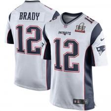 Herren New England Patriots Tom Brady Nike weiß Superschüssel LI gebunden Game Trikot
