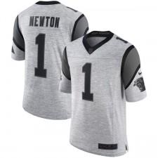 Männer Carolina Panthers Cam Newton Nike grau Rost grau II Limitierte Trikot