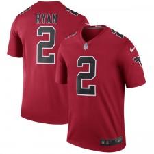 Herren Atlanta Falcons Matt Ryan Nike Red Farbe Rush Legend Trikot