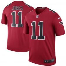 Herren Atlanta Falcons Julio Jones Nike Red Farbe Rush Legend Trikot