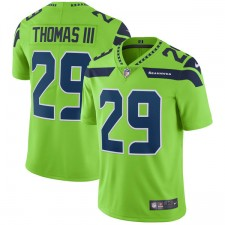 Herren Seattle Seahawks Earl Thomas Nike Neon Green Vapor Untouchable Farbe Rush Beschränkt Player Trikot