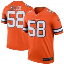 Herren Denver von Miller Nike Orange Farbe Rush Legende Trikot