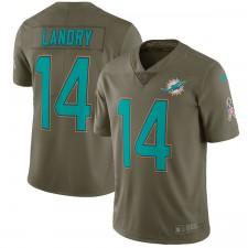 Herren Miami Dolphins Jarvis Landry Nike Olive Salute to Service Begrenzt Trikot