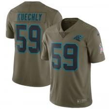 Herren Carolina Panthers Lukas Kuechly Nike Olive Salute to Service Begrenzt Trikot