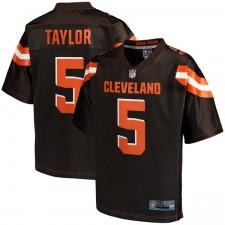 Herren Cleveland Browns Tyrod Taylor NFL Pro Line braun groß & groß Team Farbe Spieler Trikot