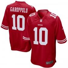 Herren San Francisco 49ers Jimmy Garoppolo Nike Scarlet Spiel Trikot