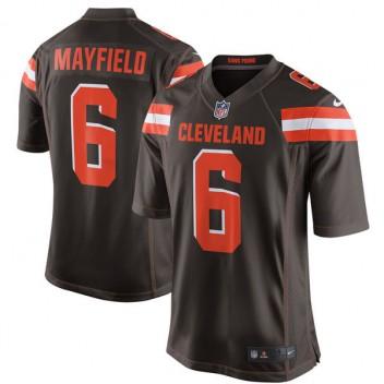 Herren Cleveland Browns Baker Mayfield Nike Brown 2018 NFL Entwurf erste Runde Pick Spiel Trikot