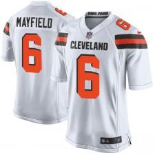Herren Cleveland Browns Baker Mayfield Nike weiß 2018 NFL Entwurf Pick Spiel Trikot
