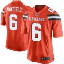 Herren Cleveland Browns Bäcker Mayfield Nike Orange 2018 NFL Entwurf Pick Spiel Trikot