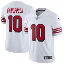 Herren San Francisco 49ers Jimmy Garoppolo Nike weiß Farbe Rush Vapor unantastbar Begrenzte Spieler Trikot