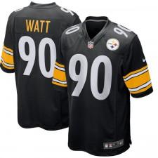 Herren Pittsburgh Steelers TJ Watt Nike Schwarz Spiel Trikot