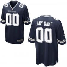 Männer Dallas Cowboys Nike Navy Benutzerdefinierte Spiel Trikot