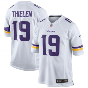 Männer Minnesota Vikings Nike Weiß Spiel Trikot