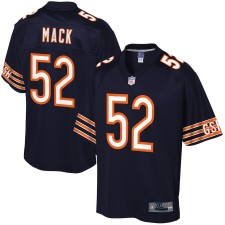 Herren Chicago Bears Khalil Mack NFL Pro Line Navy Spieler Trikot