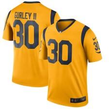Männer Los Angeles Rams Todd Gurley II Nike Gold Farbe Rush Legend Spieler Trikot