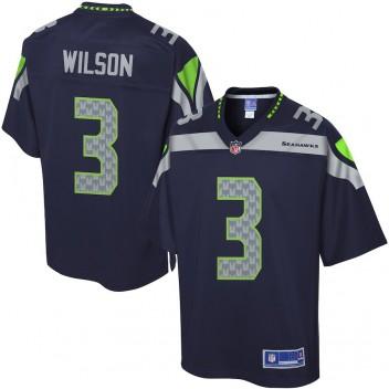 Pro Line Herren Seattle Seahawks Russell Wilson Farbe Team trikot