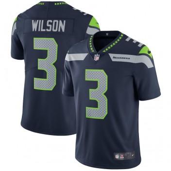 Männer Seattle Seahawks Russell Wilson Nike College Navy Dampf Unantastbar Limited Spieler Trikot