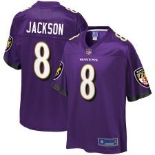 Herren Baltimore Ravens Lamar Jackson NFL Pro Line Spieler violett Trikot