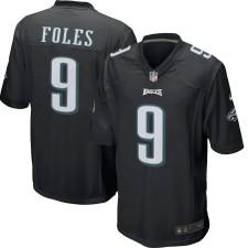 Herren Philadelphia Eagles Nick Foles Nike schwarz Spielevent Trikot