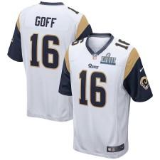 Herren Los Angeles Rams Jared Goff Nike Weiß Super Bowl LIII Bound Spiel Trikot