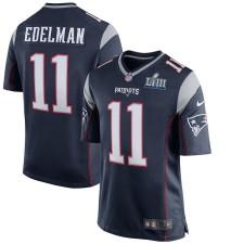 Herren New England Patriots Julian Edelman Nike Navy Super Bowl LIII Gebunden Spiel Trikot