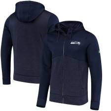 Herren Seattle Seahawks Under Armour College Navy Kombinieren echt Twist Colorblock Full-Zip Hoodie