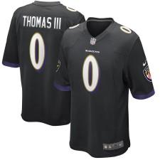 Herren Baltimore Ravens Earl Thomas Nike Schwarz Spiel Trikot