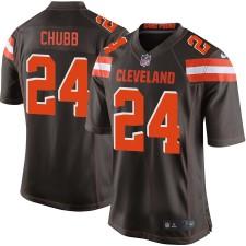 Herren Cleveland Browns Nick Chubb Nike Brown Spiel Trikot
