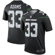 Männer New York Jets Jamal Adams Nike Schwarz Farbe hasten Legende Trikot