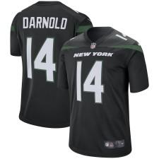 Herren New York Jets Sam Darnold Nike Schwarz Spieler Spiel Trikot