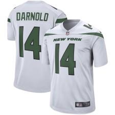 Herren New York Jets Sam Darnold Nike Weiß Spieler Spiel Trikot