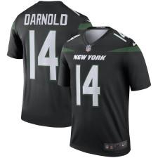 Männer Sam Darnold New York Jets Nike Schwarz Farbe hasten Legende Trikot