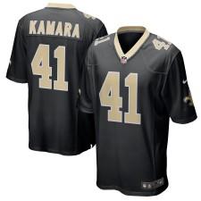 Herren New Orleans Saints Alvin Kamara Nike Schwarz Spiel Trikot