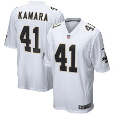 Herren New Orleans Saints Alvin Kamara Nike Weiß Ereignis Spiel Trikot