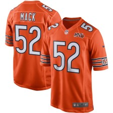 Herren Chicago Bears Khalil Mack Nike Orange 100. Saison Spiel Trikot