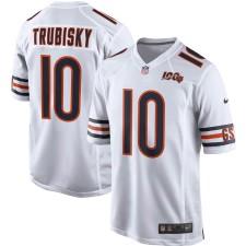 Herren Chicago Bears Mitchell Trubisky Nike Weiß 100. Saison Spiel Trikot