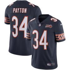 Herren Chicago Bears Walter Payton Nike Navy 100. Saison Pensioniert Begrenzt Trikot