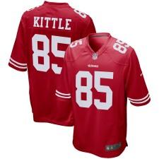 Herren San Francisco 49ers George Kittle Nike Scarlet Spiel Trikot