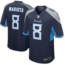 Herren Tennessee Titans Marcus Mariota Nike kriegemarine Neu 2018 Spiel Trikot