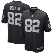 Herren Oakland Raiders Jordy Nelson Nike Schwarz Spiel Trikot