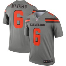 Herren Cleveland Browns Baker Mayfield Nike Grau Inverted Sage Trikot