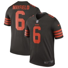 Herren Cleveland Browns Nike Baker Mayfield Brown Farbe Rush Sage  Trikot