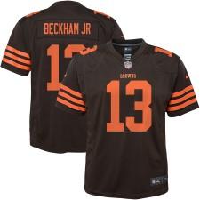 Jugend Cleveland Browns Odell Beckham Jr Nike Braun Farbe Hasten Spieler Spiel Trikot