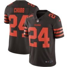 Herren Cleveland Browns Nick Chubb Nike Brown Farbe Hasten Vapor Begrenzt Trikot