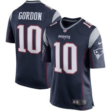 Herren New England Patriots Josh Gordon Nike Navy Player Spiel Trikot