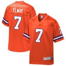 John Elway Denver Broncos NFL Pro Line Zurückgezogen er Spieler Replica Trikot - Orange