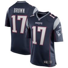 Herren New England Patriots Antonio Brown Nike Navy Spiel Trikot